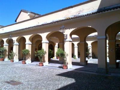Il cortile del Santuario